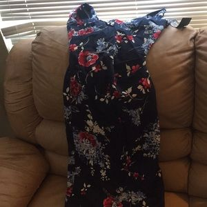Stop Staring Dresses - Navy blue-floral print dress